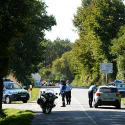 Police set up a security perimeter and evacuated eight houses near the site where a Belgian F-16 fighter jet crashed in western France on Thursday. — AFP