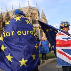 The clock is ticking down to March 29 when Britain is set to leave the European Union. — AFP