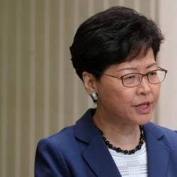 Hong Kong Chief Executive Carrie Lam attends a news conference in Hong Kong, China June 10, 2019. — Reuters