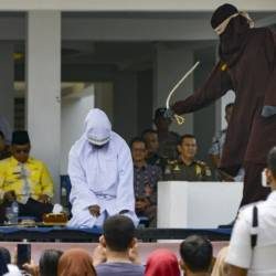 Depite international condemnation, whipping is a common punishment for a range of offences in Aceh. — AFP