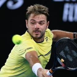 Switzerland's Stanislas Wawrinka celebrates after victory over France's Benoit Paire in their first round men's singles match at the ABN AMRO World Tennis Tournament in Rotterdam, on February 11, 2019. — AFP