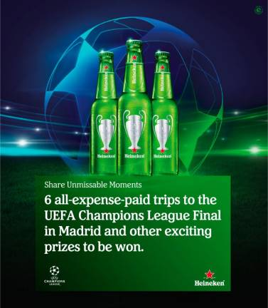 Enjoy the ultimate football experience with Heineken