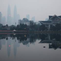 A view shows the city skyline shrouded by haze in Kuala Lumpur, Malaysia, on Sept 16, 2019. - Reuters