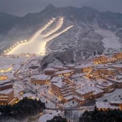 This undated picture released from North Korea's official Korean Central News Agency (KCNA) on Dec 8, 2019 shows a general view of the Yangdok County Hot Spring Cultural Recreation Center in South Pyongan Province, North Korea. — AFP
