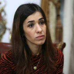 Nobel Peace Prize winner Nadia Murad who was held by Islamic State fighters in Iraq for three months is to address the UN Security Council on Tuesday. — AFP