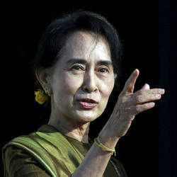 Myanmar's Suu Kyi arrives at Hague court for genocide hearing