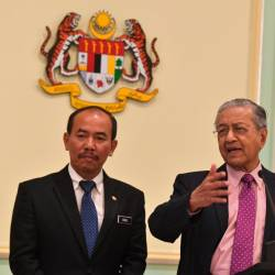 Prime Minister Tun Dr Mahathir Mohamad speaks at a press conference after chairing a meeting of the Special Cabinet Committee on Anti-Corruption in Perdana Putra today. - Bernama