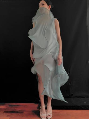A twisted sculp dress. – COURTESY OF CARO CHIA