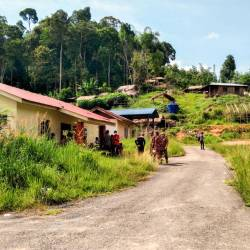 The village of Kuala Koh, inhabited by the Batek tribe of Orang Asli, returned home many after most of the tribespeople who had moved into the jungle. - Bernama