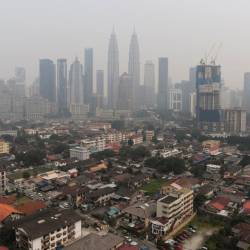 Aerial view of Kampung Baru, in this photo taken on Sept 21, 2019. — Bernama