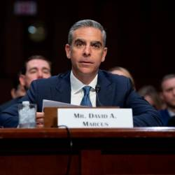 David Marcus, Head of Calibra at Facebook, testifies about Facebook's proposed digital currency called Libra. — AFP Relaxnews