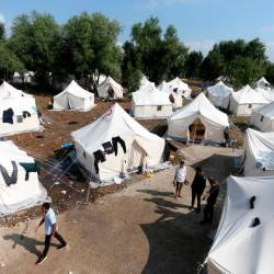 General view of migrant camp Vucjak in Bihac, Bosnia and Herzegovina, June 26, 2019 — Reuters