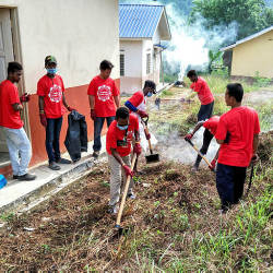 Volunteers during clean-up efforts at Kampung Kuala Koh, on July 19, 2019. — Bernama