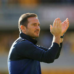 Chelsea manager Frank Lampard applauds the fans after the Wolverhampton Wanderers v Chelsea match at Molineux Stadium, Wolverhampton on Sept 14. — Reuters