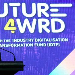Finance Minister Lim Guan Eng delivering his speech during launching of Industry Digitalisation Transformation Fund on March 7.