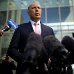 The controversial legislation would give hardline Home Affairs Minister Peter Dutton the ability to prevent suspected terrorists from returning to Australia. — AFP
