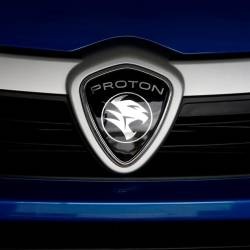 A Proton logo on a car at a Proton showroom in Puchong, Oct 3, 2016. — Reuters