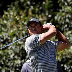 US golfer Tiger Woods is pictured during a practice round at Chapultepec's Golf Club in Mexico City — AFP