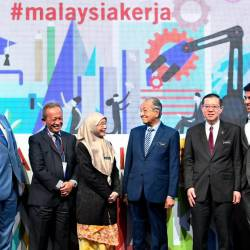 Prime Minister Tun Dr Mahathir Mohamad launched the Malaysia@Work initiative in International Social Well-being Conference 2019 (ISWC) on Nov 21. — Bernama