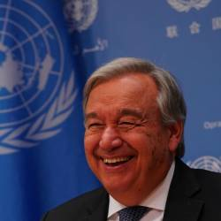 In this file photo taken on September 18, 2019 UN Secretary-General António Guterres attends a press briefing to mark the opening of the 74th session of the United Nations General Assembly at the UN in New York. - AFP