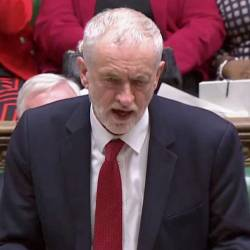 Britain's opposition Labour Party leader, Jeremy Corbyn, speaks after the voting in Parliament, London, January 29, 2019, in this videograb. — Reuters