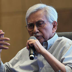Former Council of Eminent Persons (CEP) chairman Tun Daim Zainuddin at the Isis Praxis Conference 2019 today.