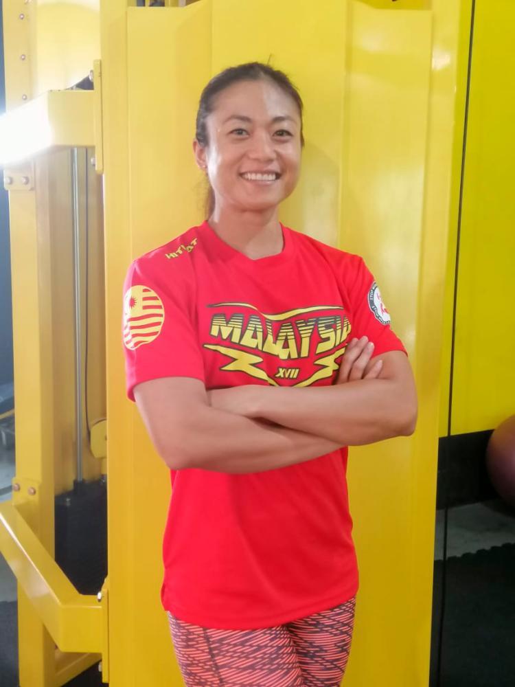 Philomena aspires to raise female awareness about bodybuilding. — PHOTO COURTESY OF PHILOMENA DEXCLYN