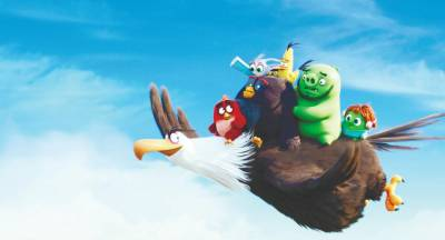 A scene from Angry Birds 2