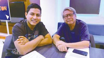 Shamyl Othman with his father Othman Hafsham, who is rumoured to be making a cameo in Shamyl's remake of the 1987 horror thriller 'Rahsia'. – Courtesy of Shamyl Othman