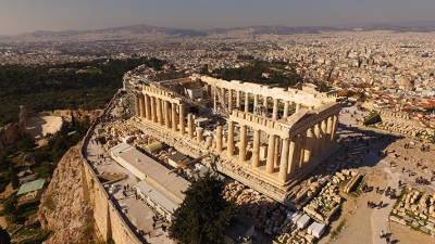 "Greece currently draws over three times more tourists than its 10.8 million residents, but Athens still has ""a lot of untapped potential,"" tourism minister Harry Theocharis said on Jan 27. © bdrone / Shutterstock.com"