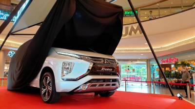 This Mitsubishi Xpander is at the Mid Valley Megamall now.