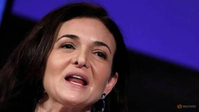 Sheryl Sandberg, Facebook's chief operating officer, addresses the Facebook Gather conference in Brussels, Belgium Jan 23, 2018. — AFP