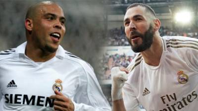 Brazilian legend Ronaldo (left) and Karim Benzema.