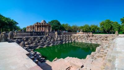 The Modhera Sun Temple.