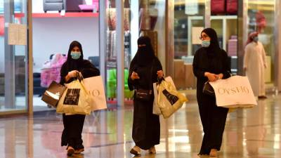 Saudis shop at the Panorama Mall in the capital Riyadh on May 22, 2020, as Muslims prepare to celebrate the upcoming Eid al-Fitr, that marks the end of the fasting month of Ramadan. — AFP