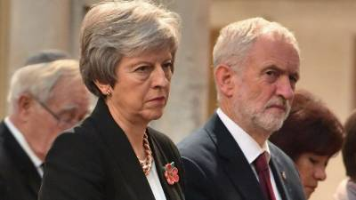 Britain's Prime Minister Theresa May (L) and opposition Labour Party leader Jeremy Corbyn (R) cannot agree on a broadcaster or format for a television debate on May's Brexit deal. — AFP