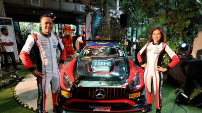 Leona Chin and Tengku Djan Ley join forces in Mercedes-AMG GT3