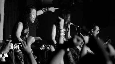 A metal band from Japan performing during an underground show in Malaysia. – SUNPIX BY MARK MATHEN VICTOR