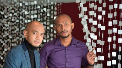 Local rockers Black (L) and Tomok are looking forward to their first concert at Dewan Filharmonik Petronas.