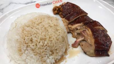 Hawker Chan's signature soya sauce chicken rice. – PICTURE BY TAN BEE HONG