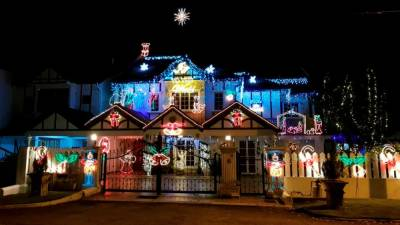 Roland's house used to draw visitors because of its elaborate light decorations. – PICTURE COURTESY OF ROLAND XAVIER