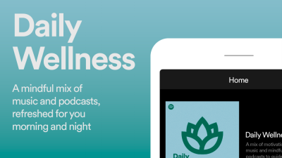 Start and end your day positively with Spotify's Daily Wellness playlist