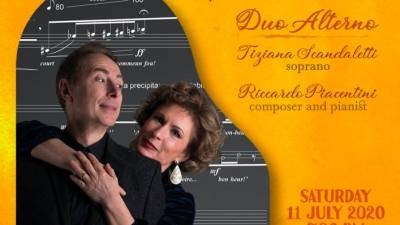 Enjoy Italian contemporary classical music by Duo Alterno for one day only