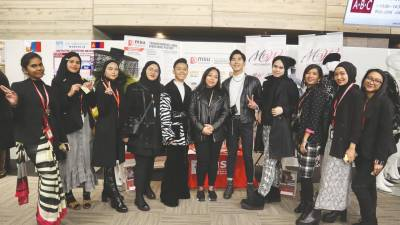 MSU's fashion design students that took part in the Young Ambassador Programme to Osaka.