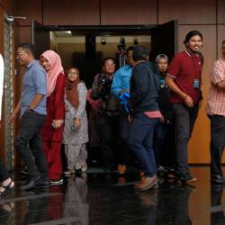 Utusan Melayu (Malaysia) Bhd employees exit a hall after a special briefing session with management at Utusan headquarters in Kuala Lumpur on Aug 20, 2019. - Bernama