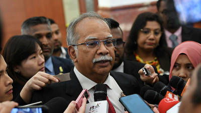 Penang Deputy Chief Minister II Dr P. Ramasamy at a press conference in Parliament today. — Bernama