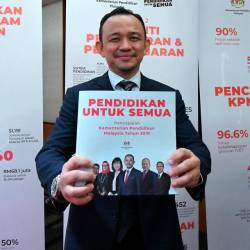 "Education Minister Dr Maszlee Malik presented his ministry's achievements themed ""Education for All"" in Kuala Lumpur Convention Centre (KLCC) today. — Bernama"