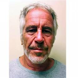 This undated file handout photo obtained July 11, courtesy of the New York State Sex Offender Registry shows US financier Jeffrey Epstein. — AFP
