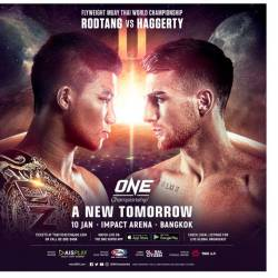Rodtang Jitmuangnon to defend One Flyweight Muay Thai World title against Jonathan Haggerty in rematch
