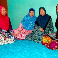From left: Distraught sisters of Dr Rumihati, Taisah, Jeidah, and Zaiton, when met at their home in Putatan, on Dec 7, 2019. — Bernama